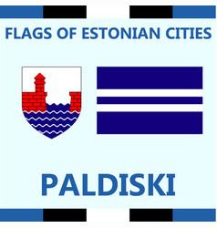 Flag of estonian city paldiski vector