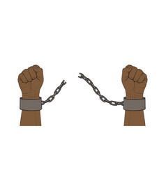 hands with broken chain vector image