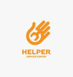 Helper logo vector