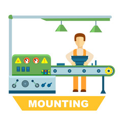Industrial mounting isolated concept vector