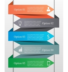 Infographics arrow template vector image vector image