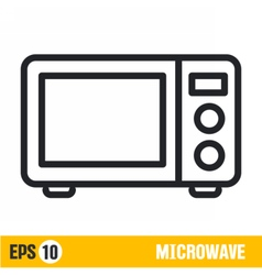 line icon microwave vector image