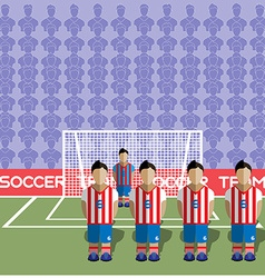 Paraguay soccer club penalty on a stadium vector