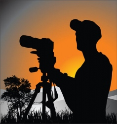 Photographer vector