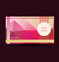 Presentation template lowpolygonal background vector