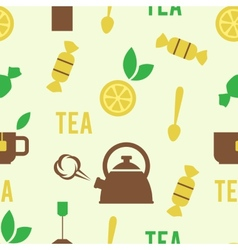 Simple tea concept in seamless pattern vector