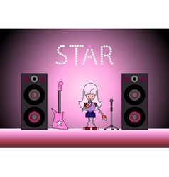 star on the stage vector image vector image