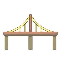 Steel bridge icon cartoon style vector