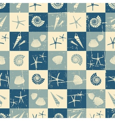 Vintage style seamless pattern with seashells vector image vector image