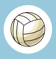 Volleyball ball equipment icon vector