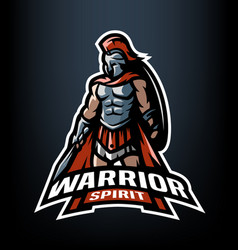 warrior spirit the roman warrior logo vector image