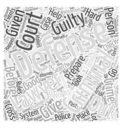 What a criminal defense lawyer can do for you word vector