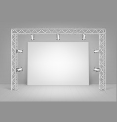 White poster with wall spotlights illumination vector