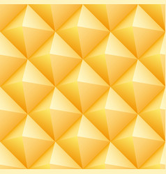 yellow triangles seamless pattern vector image vector image