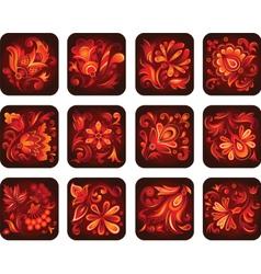ornamental flowers vector image