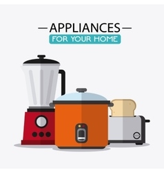 Appliances and supplies for home vector