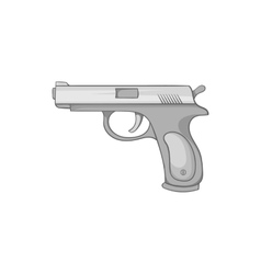 Gun icon black monochrome style vector