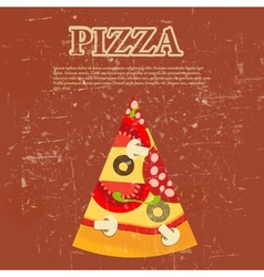 Retro Pizza Menu Template vector image