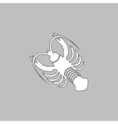 Lobster computer symbol vector