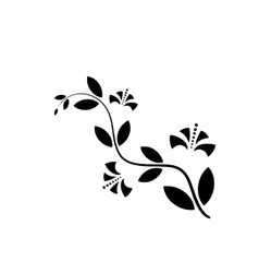 Decorative flower icon in flat style isolated vector