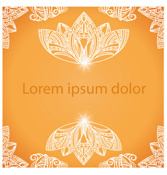 mandala background for design or text vector image