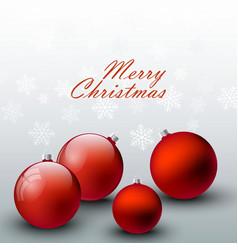 holiday with red christmas ball on vector image