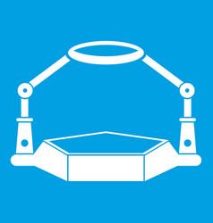 Table magnify icon white vector