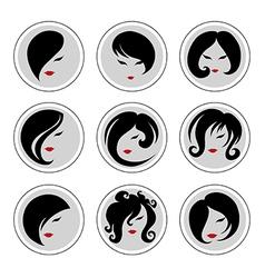 woman hair pics 2 vector image