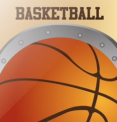 A colored background with a basketball ball and te vector