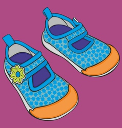 kid shoes vector image