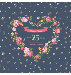 Baby shower or arrival cards - with spring blossom vector