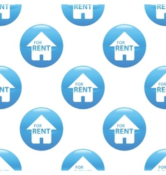 House for rent sign pattern vector