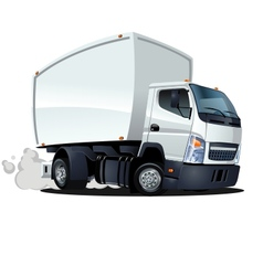 cartoon delivery cargo truck vector image