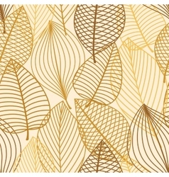 Yellow and brown leaves seamless pattern vector