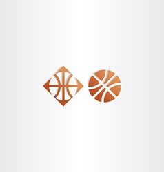 Basketball icon logo sign vector