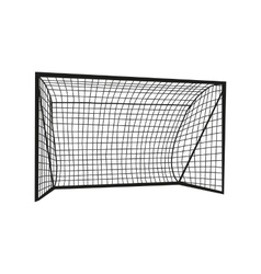 Football goal silhouette vector