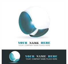 Sphere 3d design vector image