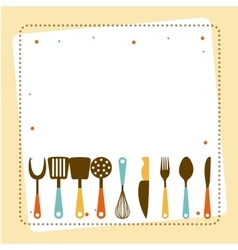 Kitchen tools design vector