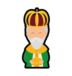 Wise man icon merry christmas design vector