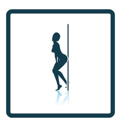 Stripper night club icon vector