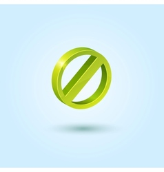Green stop icon vector