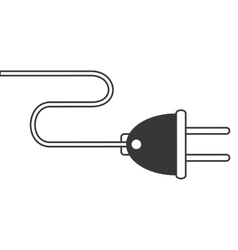 Plug with cord icon vector
