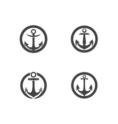 Anchor icon logo template vector