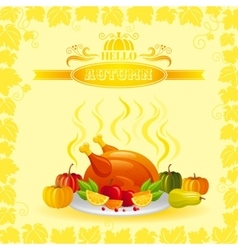 autumn thanksgiving vector image vector image