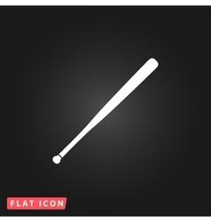 baseball bat icon vector image vector image
