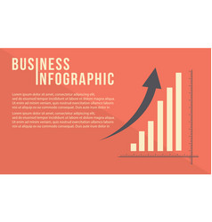 Business graph with growth arrow design vector