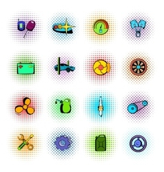 Car service maintenance icons set vector image vector image