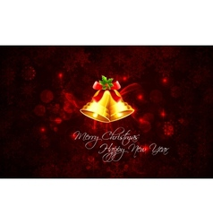 Christmas Background with Bell vector image vector image