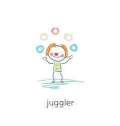 Clown juggler vector image vector image