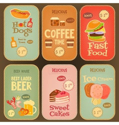 Food labels vector